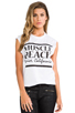 Image 1 of Friend of Mine Muscle Beach Tank in White/Black