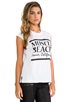 Image 2 of Friend of Mine Muscle Beach Tank in White/Black