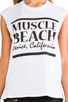 Image 4 of Friend of Mine Muscle Beach Tank in White/Black