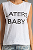 Image 3 of Friend of Mine Laters Baby Tank in White