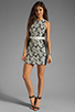 Image 2 of Finders Keepers Fools Gold Dress in Black & White Print/Black
