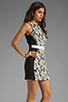 Image 3 of Finders Keepers Fools Gold Dress in Black & White Print/Black