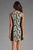 Image 4 of Finders Keepers Fools Gold Dress in Black & White Print/Black