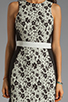 Image 5 of Finders Keepers Fools Gold Dress in Black & White Print/Black