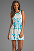 Image 1 of Finders Keepers Let's Get Back Dress in Rose Print Blue