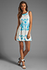 Image 2 of Finders Keepers Let's Get Back Dress in Rose Print Blue