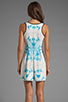 Image 4 of Finders Keepers Let's Get Back Dress in Rose Print Blue
