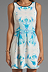 Image 5 of Finders Keepers Let's Get Back Dress in Rose Print Blue