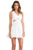 Image 1 of Finders Keepers Broken Heart Dress in Ivory/White