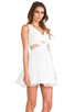 Image 3 of Finders Keepers Broken Heart Dress in Ivory/White