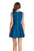 Image 4 of Finders Keepers Back to December Dress in Teal