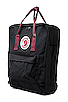 Image 4 of Fjallraven Kanken in Black/Ox Red