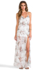 Image 1 of For Love & Lemons Victorian Maxi Tank Dress w/ Slits in Floral