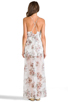 Image 3 of For Love & Lemons Victorian Maxi Tank Dress w/ Slits in Floral