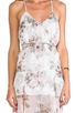 Image 4 of For Love & Lemons Victorian Maxi Tank Dress w/ Slits in Floral