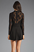 Image 4 of For Love & Lemons Tarot Dress in Black