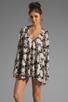 Image 1 of For Love & Lemons Daytripper Dress in Black Floral