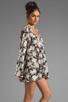 Image 3 of For Love & Lemons Daytripper Dress in Black Floral