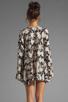 Image 4 of For Love & Lemons Daytripper Dress in Black Floral