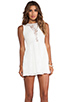 Image 1 of For Love & Lemons Lace Lulu Dress in White