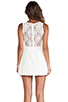 Image 4 of For Love & Lemons Lace Lulu Dress in White