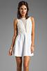 Image 1 of For Love & Lemons Lulu Dress in Ivory