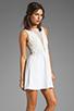 Image 3 of For Love & Lemons Lulu Dress in Ivory