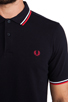 Image 5 of Fred Perry Slim Fit Twin Tipped Polo in Navy/White/Red