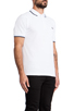 Image 2 of Fred Perry Twin Tipped Slim Fit Polo in White/Navy