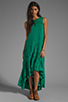 Image 2 of Free People Long Crochet Dress with Tiers in Emerald Combo