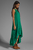 Image 3 of Free People Long Crochet Dress with Tiers in Emerald Combo
