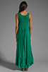 Image 4 of Free People Long Crochet Dress with Tiers in Emerald Combo