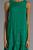 Image 5 of Free People Long Crochet Dress with Tiers in Emerald Combo