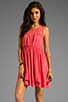 Image 1 of Free People Fiesta Dress in Coral