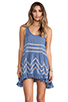 Image 1 of Free People Slip Voile Trapeze Dress in Blue Combo