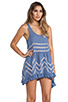 Image 3 of Free People Slip Voile Trapeze Dress in Blue Combo