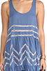 Image 5 of Free People Slip Voile Trapeze Dress in Blue Combo