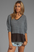 Image 1 of Free People Greatest Hit Sweater in Heather Grey Combo