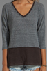 Image 3 of Free People Greatest Hit Sweater in Heather Grey Combo