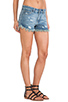 Image 2 of Free People Rugged Ripped Denim Short in True Blue