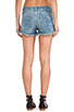 Image 3 of Free People Rugged Ripped Denim Short in True Blue