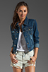 Image 1 of Free People Denim Jacket in True Blue