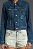 Image 4 of Free People Denim Jacket in True Blue