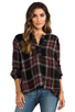 Image 1 of Free People Johnny Plaid Top in Black Combo