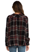 Image 3 of Free People Johnny Plaid Top in Black Combo
