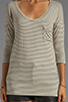 Image 3 of Free People Retro Stripe Tee in Natural