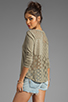 Image 1 of Free People Patches of Lace Henley in Olive