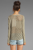 Image 3 of Free People Patches of Lace Henley in Olive