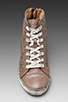 Image 4 of Frye Kira Studded High Top in Grey
