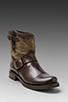 Image 1 of Frye Veronica Canvas Shortie Boot in Dark Brown